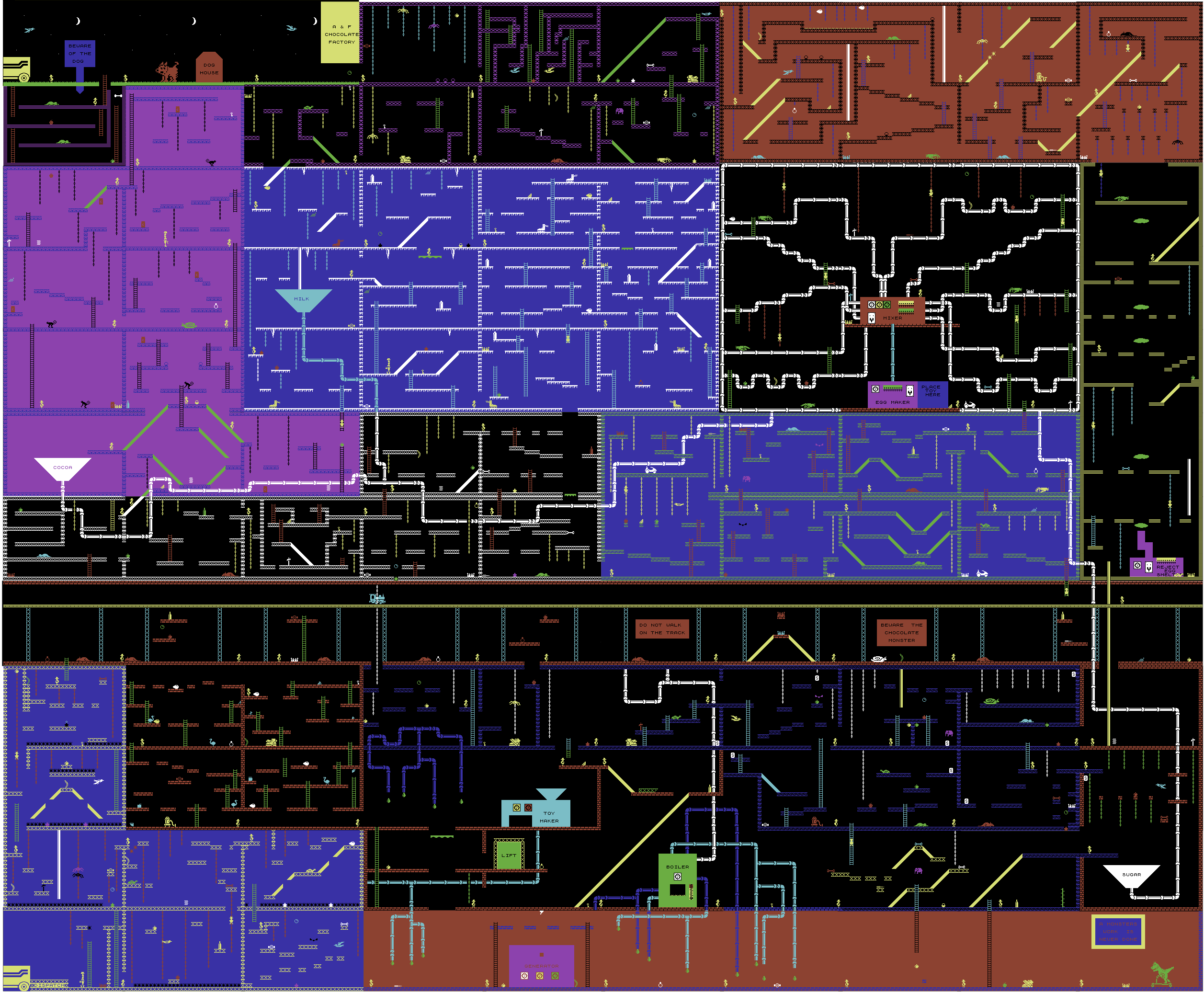 Chuckie Egg 2 (Choccy Egg) COMMODORE CM64 Map